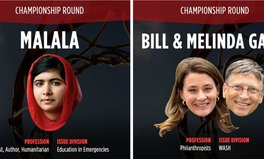 Article: Malala vs. Bill and Melinda Gates in the Championship round of the Global Citizen March Madness Challenge
