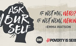 Article: These celebs are telling world leaders: #PovertyIsSexist