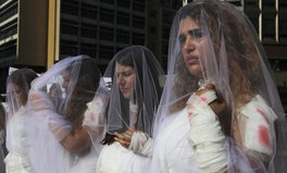 Article: Lebanese Women Dressed in Bloody Bridal Gowns Protest Rape Law