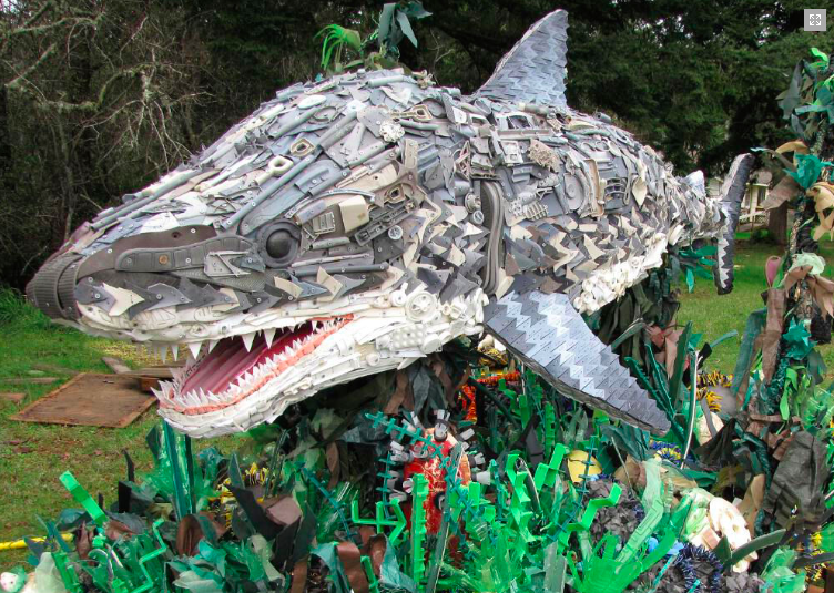 Washed Ashore sculpture, ocean plastic waste
