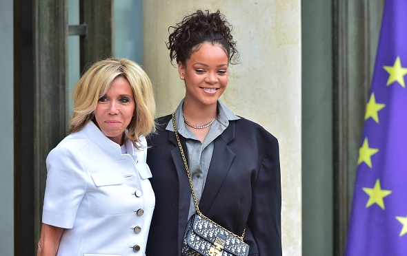 Rihanna Meets With President First Lady Macron To Support Global Partnership For Education