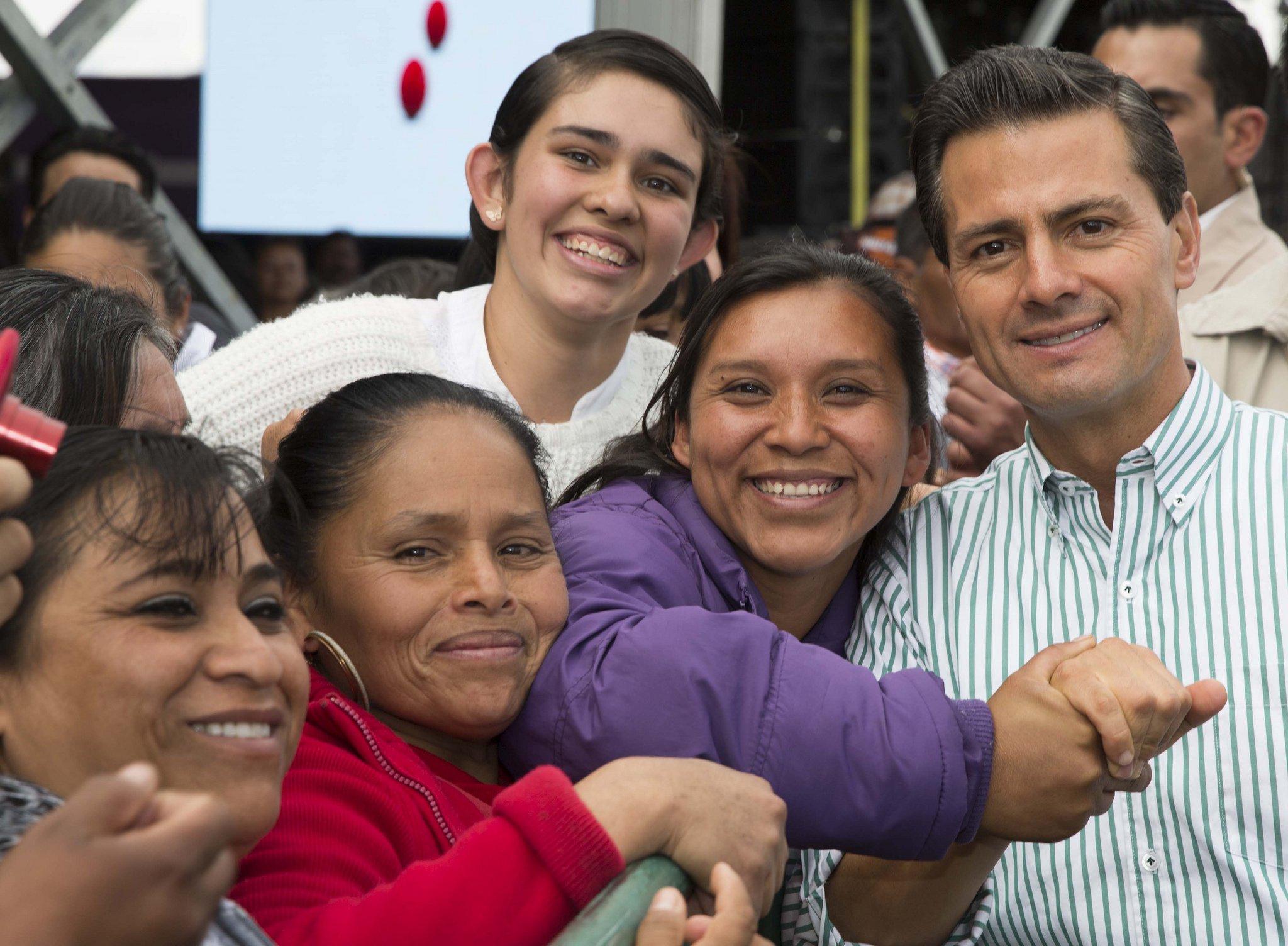 Mexico cash transfer program Prospera; President Enrique Pena Nieto