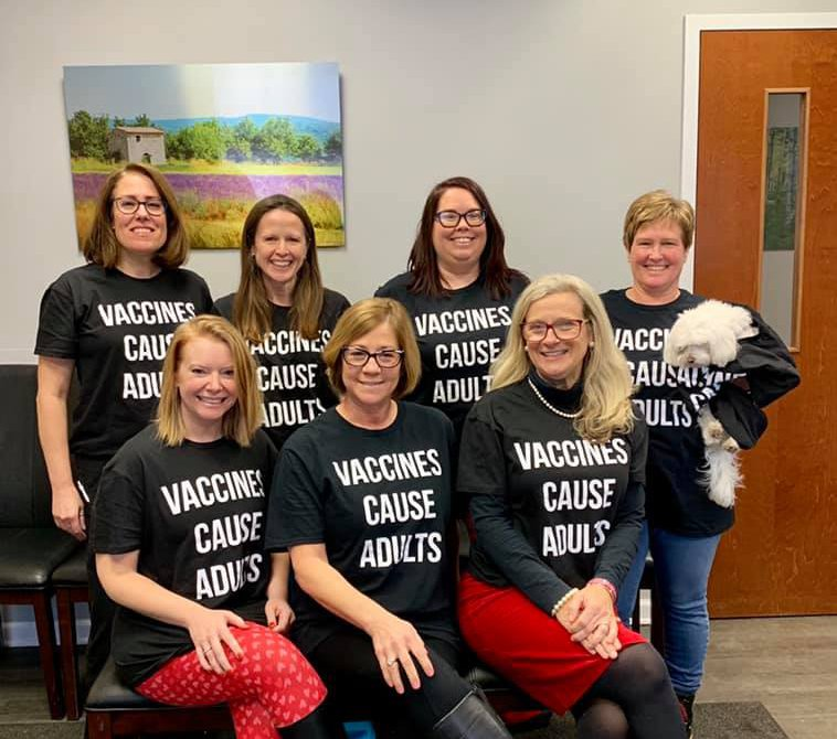 Pediatrics Staff Claps Back at Anti-Vaxxers With Brilliant Custom-Made T-Shirts