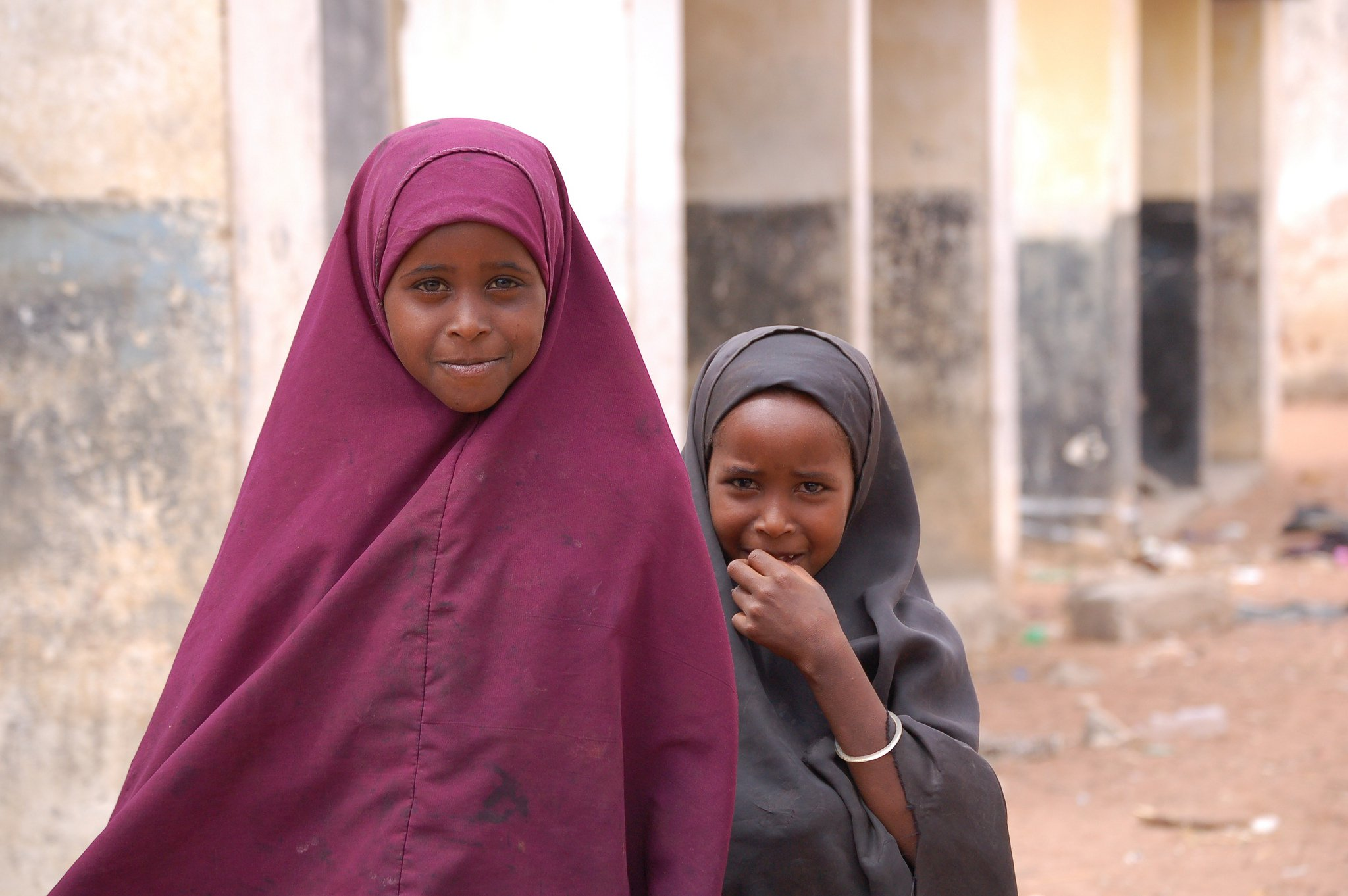 two girls kenya