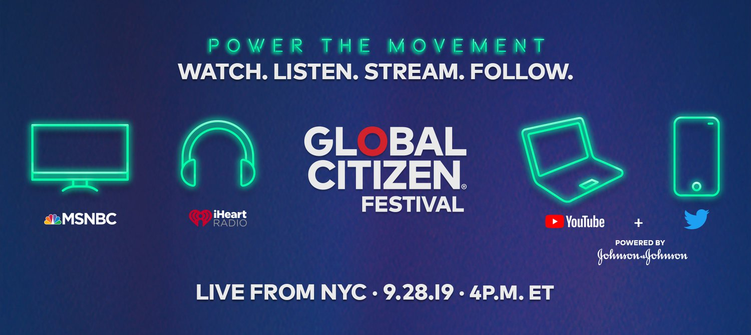 Here's How to Follow Along With the 2019 Global Citizen Festival