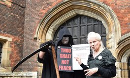 Artikel: 'Thou Shalt Not Frack' — Vivienne Westwood  Tells Archbishop of Canterbury to Fight Fracking