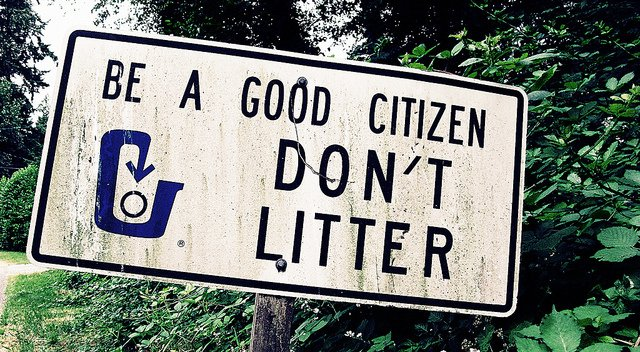 dont litter sign