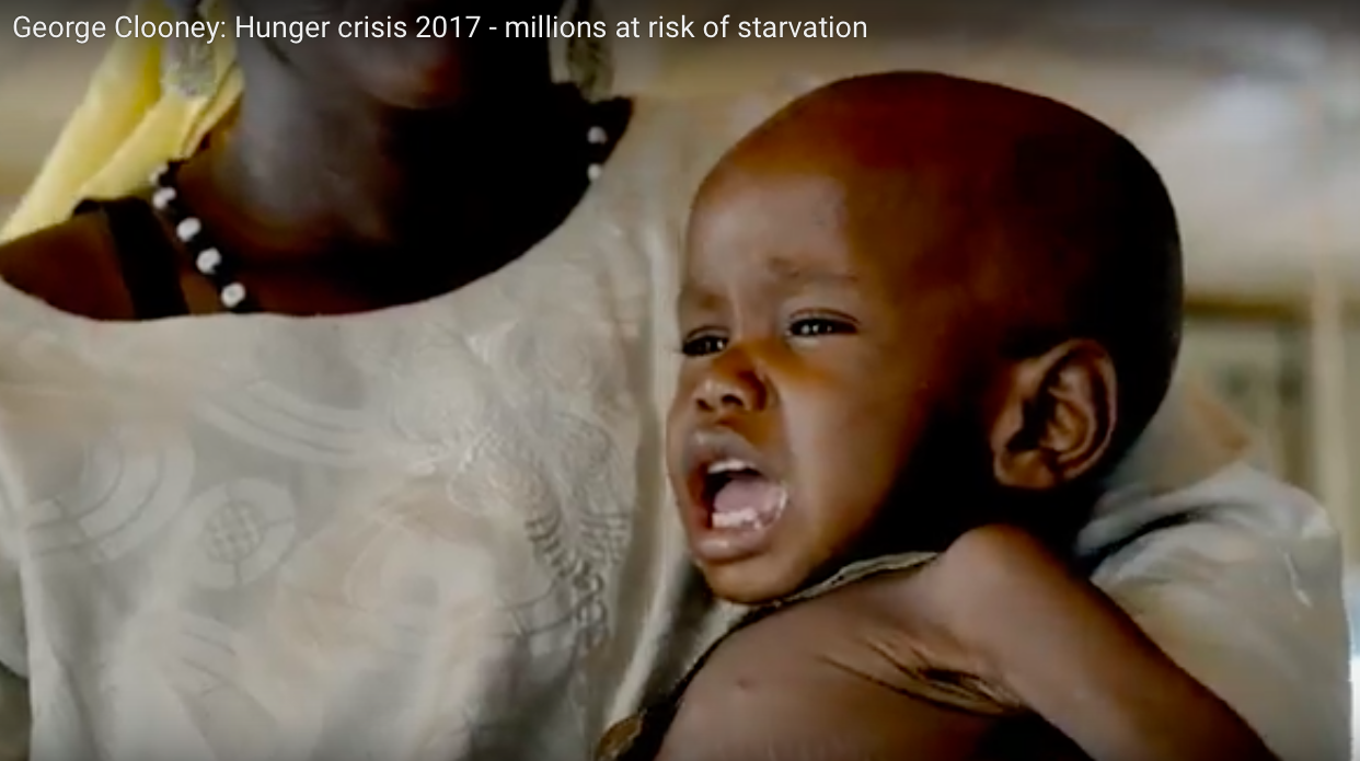 child in africa crying