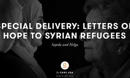 Article: Letters of Hope to Syrian refugees - Sajeda and Helga