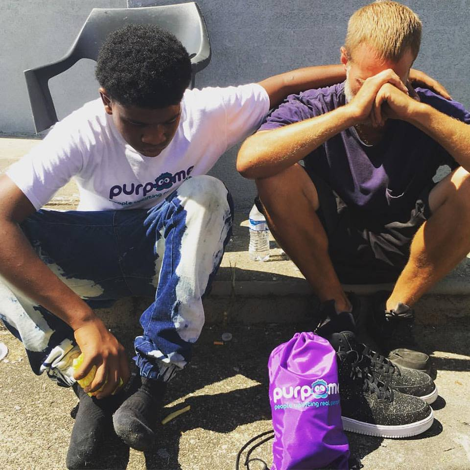 Teen Donates Shoes