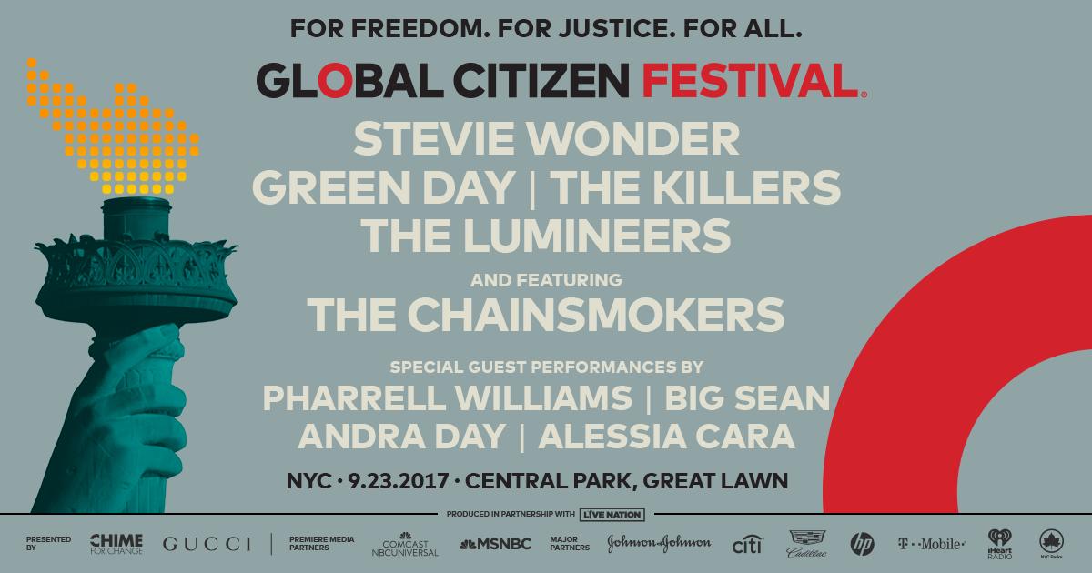 Global Citizen Festival Programm