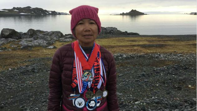 Chau Smith 70 year old marathon runner
