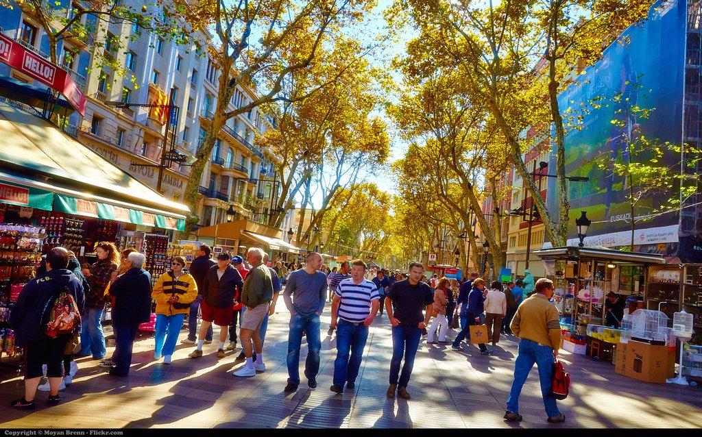 Barcelona street fair