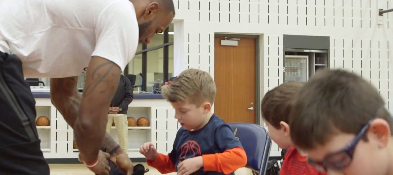 46f9f3144bd8ca LeBron James Just Delivered Nikes He Helped Design for Kids With ...
