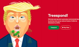 Artikel: This Site Helps You Plant a Tree Every Time Trump Tweets Something Wrong About Climate Change