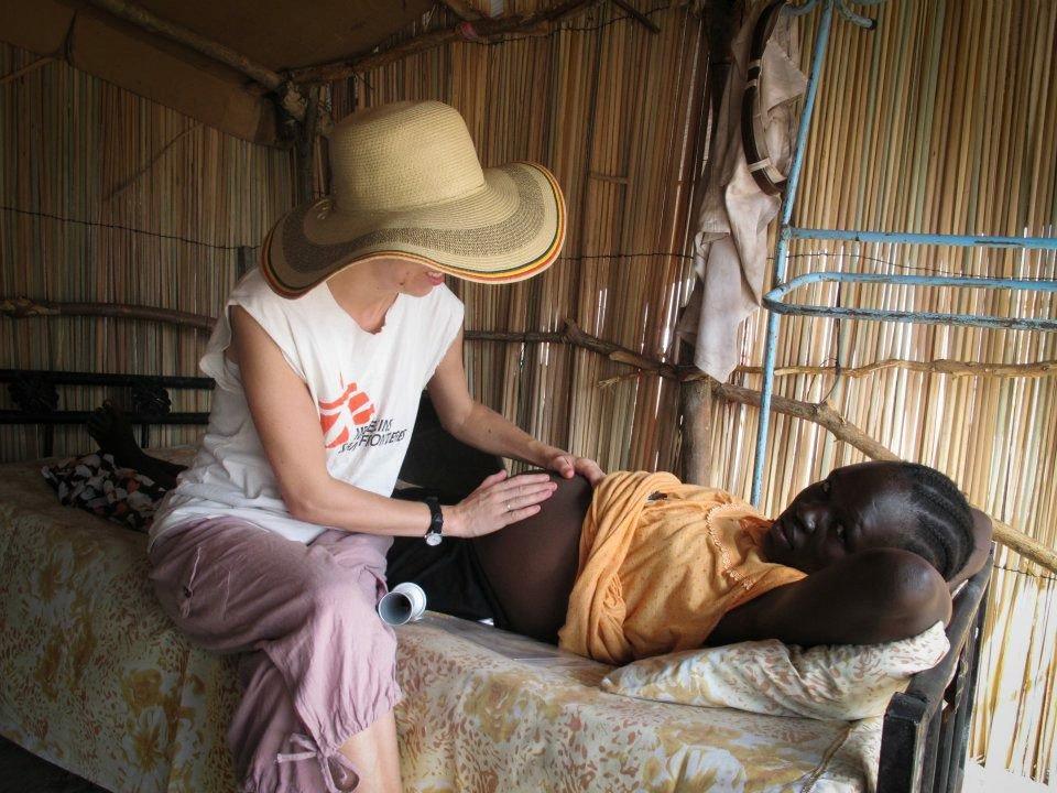 Aerlyn Pfeil performing prenatal exams in a refugee camp in Upper Nile, South Sudan. .jpg