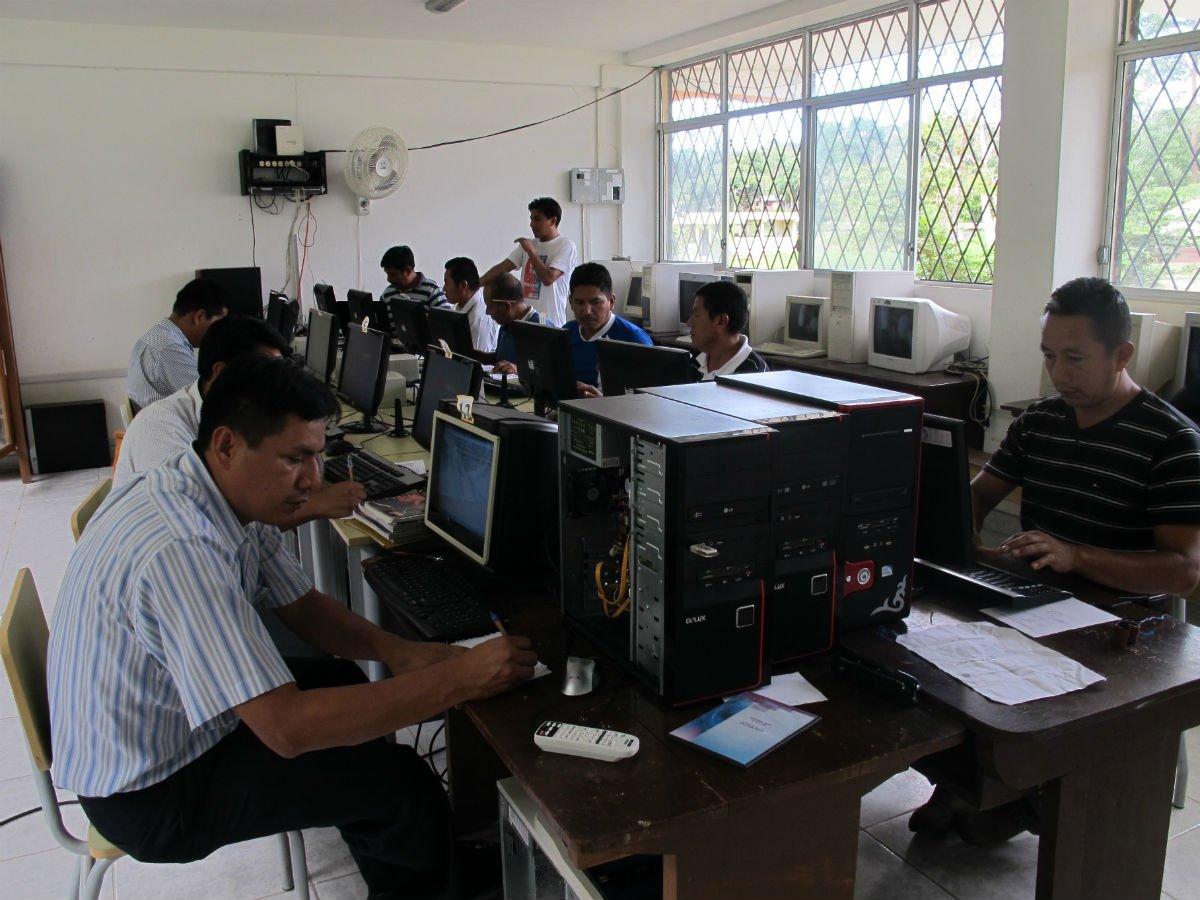 Amazon computer lab in Ecuador.jpg