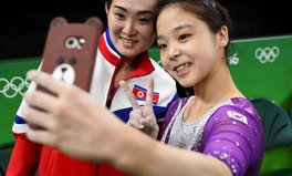 Article: North and South Korean Gymnasts Take Selfie, Justify Whole Point of Olympics