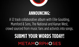 Video: METAMORPHOSES: Ellie Goulding, Mumford & Sons, The National and Kanye West to join album based on global citizens' lyrics