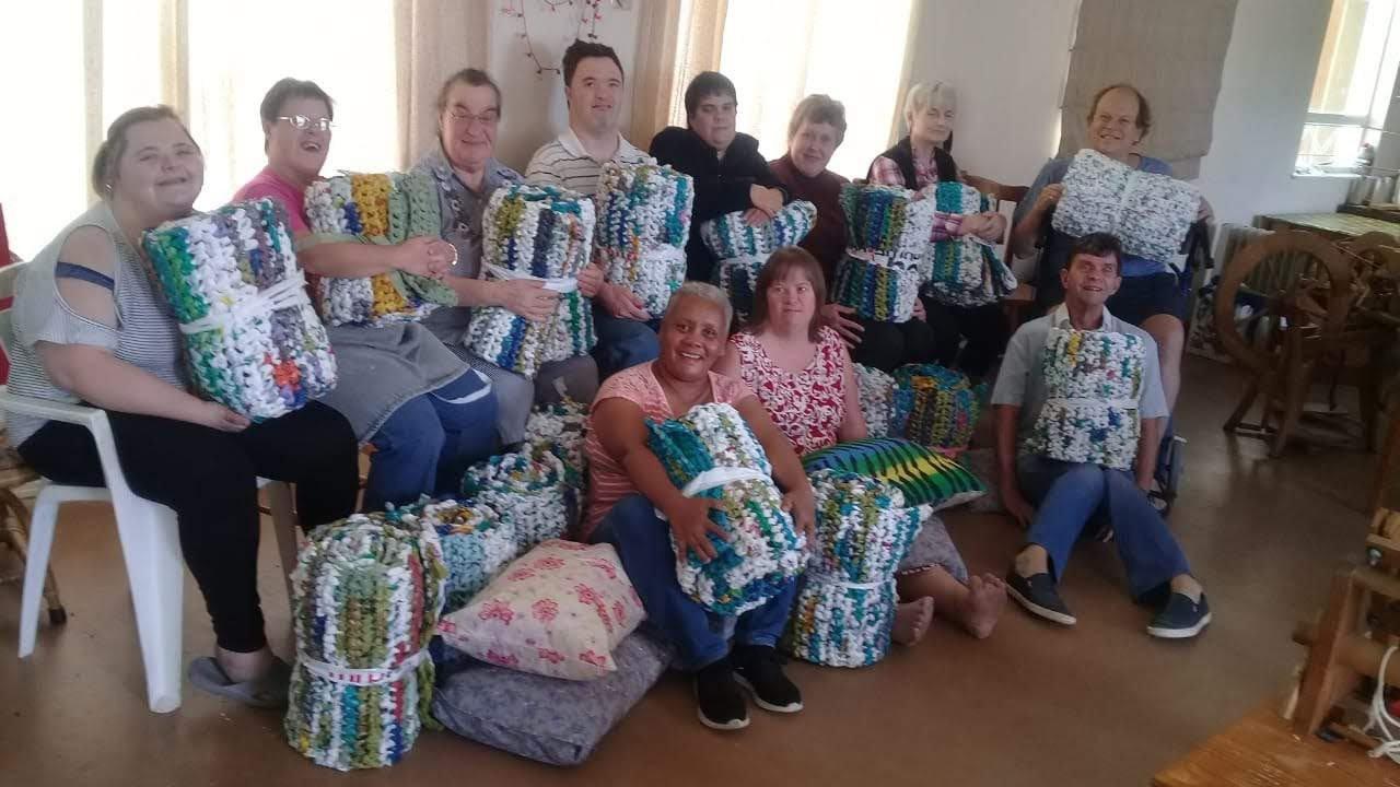 suzette-hendricks-plastic-bags-sleeping-mats-homeless-south-africa