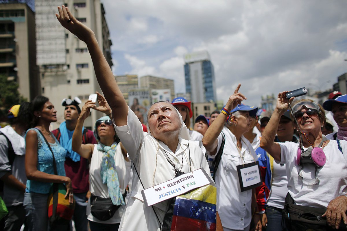 Venezuela Women's March Protest Maduro