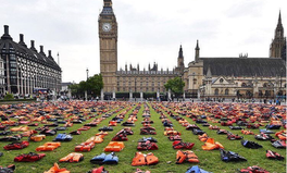 Article: Refugees Migrants United Nations  Life Jackets Theresa May March London Big Ben #WeStandWithYou #RefugeesWelcome Syria UN