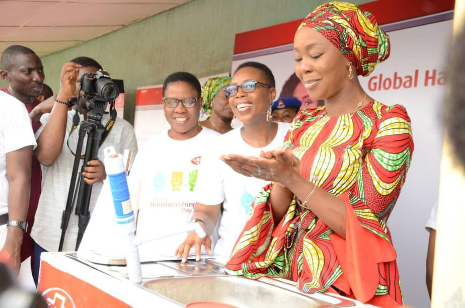 Her Excellency Toyin Saraki - Handwashing Event