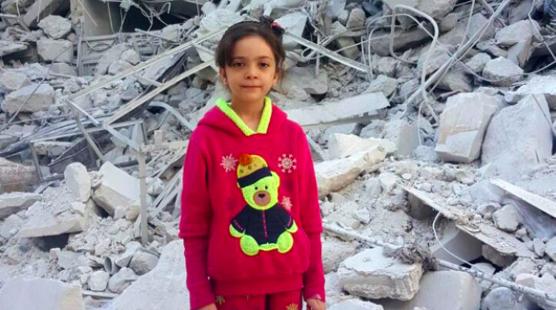 Bana Alabed in Aleppo Syria
