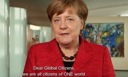 Article: Videobotschaft Angela Merkel Global Citizen Festival Hamburg