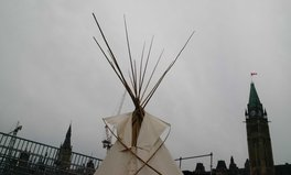Article: Indigenous Protesters Erect a Teepee on Parliament Hill Ahead of Canada Day