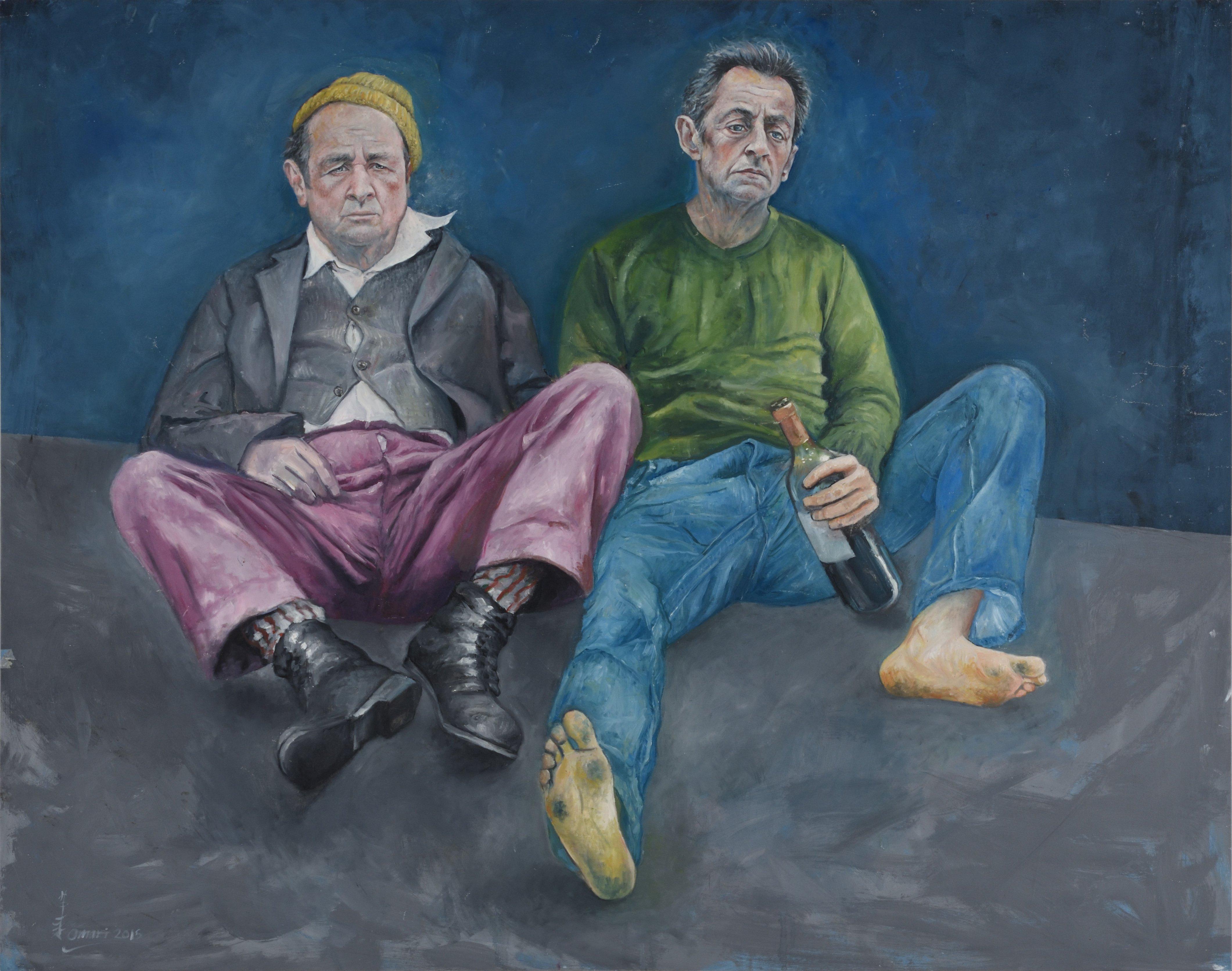 AO15 Abdalla Al Omari 'Francois et Nikolas' 165 x 205 cm Oil and acrylic on canvas 2015.jpg