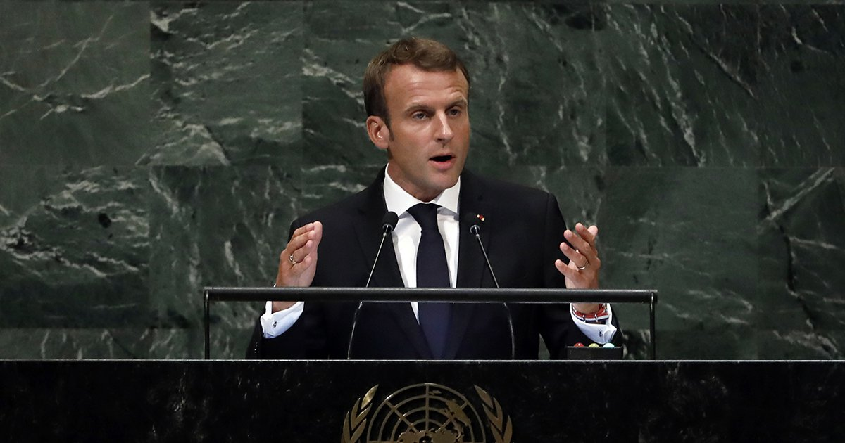 Don T Accept Our History Unraveling Macron Urges World To Take Collective Action At Un