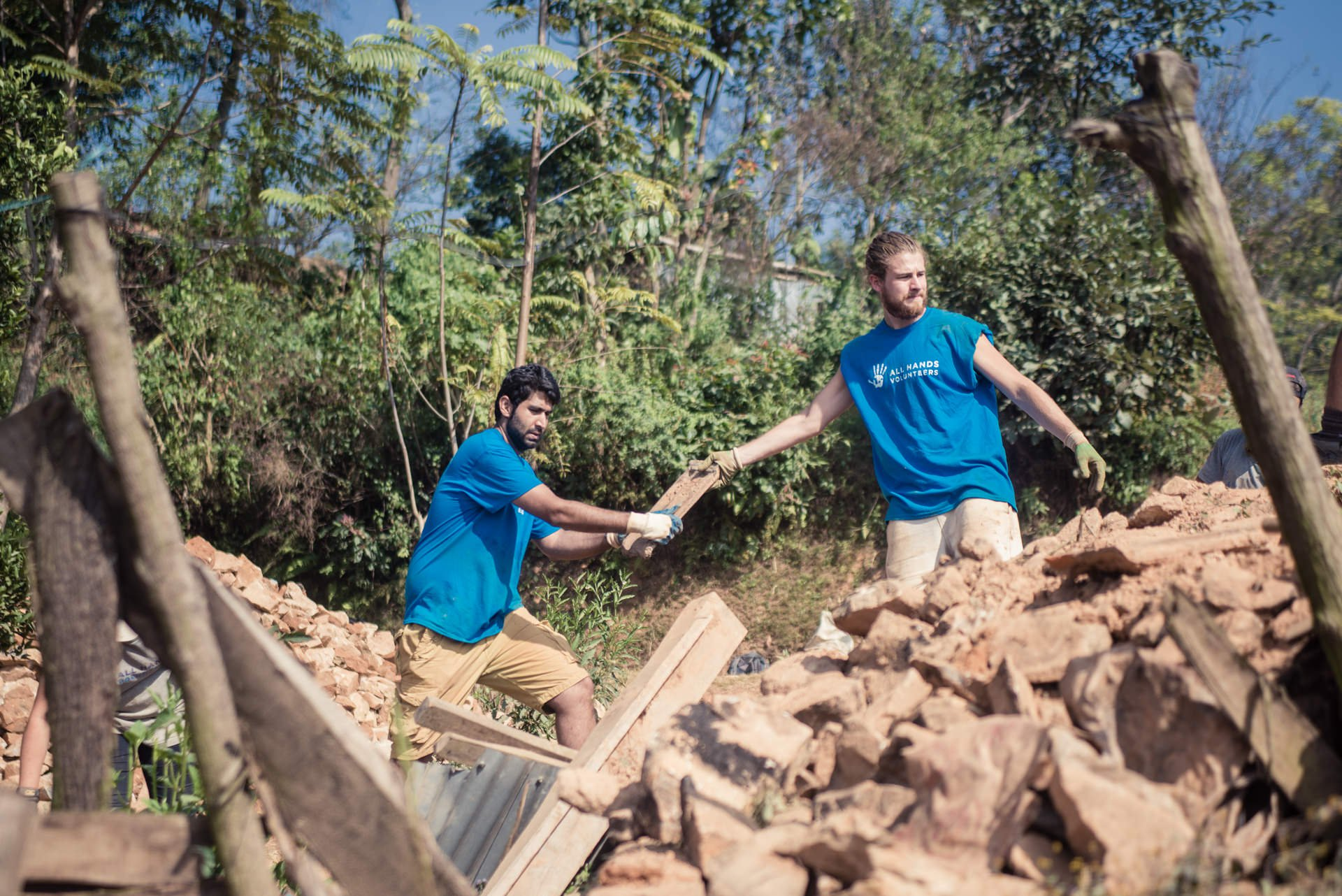 All Hands Volunteers clearing earthquake rubble in the district of Nuwakot, Nepal..jpg