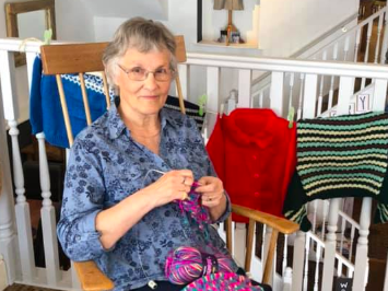 This Welsh Grandma Is Inspiring a Community to Knit 2,020 Jumpers for Refugee Children