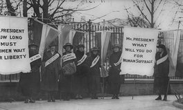Article: 100 Years Ago, Women Sat Silently Outside the White House for 6 Months in Protest