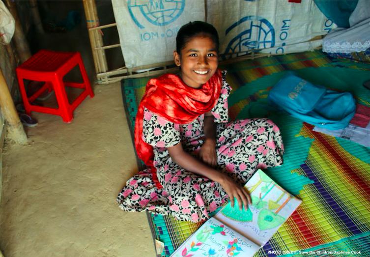 Janat a fui les viols et les meurtres à Myanmar. Aidez les enfants comme elle à retourner à l'école.