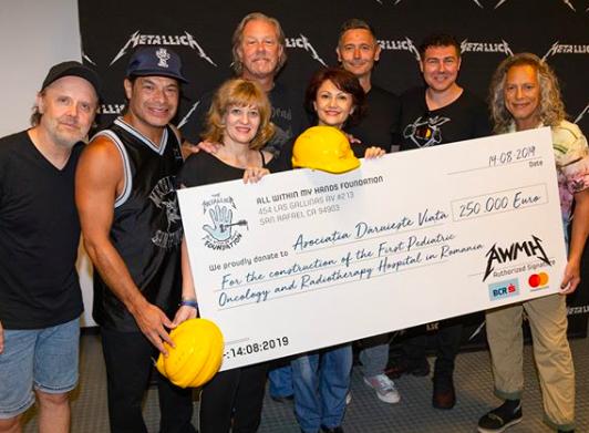 Metallica Donates $277,000 to Fight Pediatric Cancer in Romania