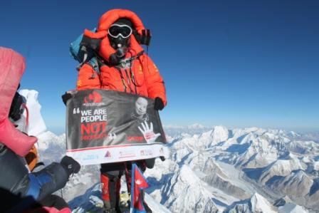 sex trafficking victim scales mt everest