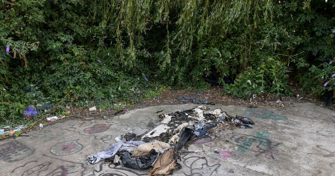 Homeless Woman's Tent Repeatedly Set on Fire in Lincolnshire Town