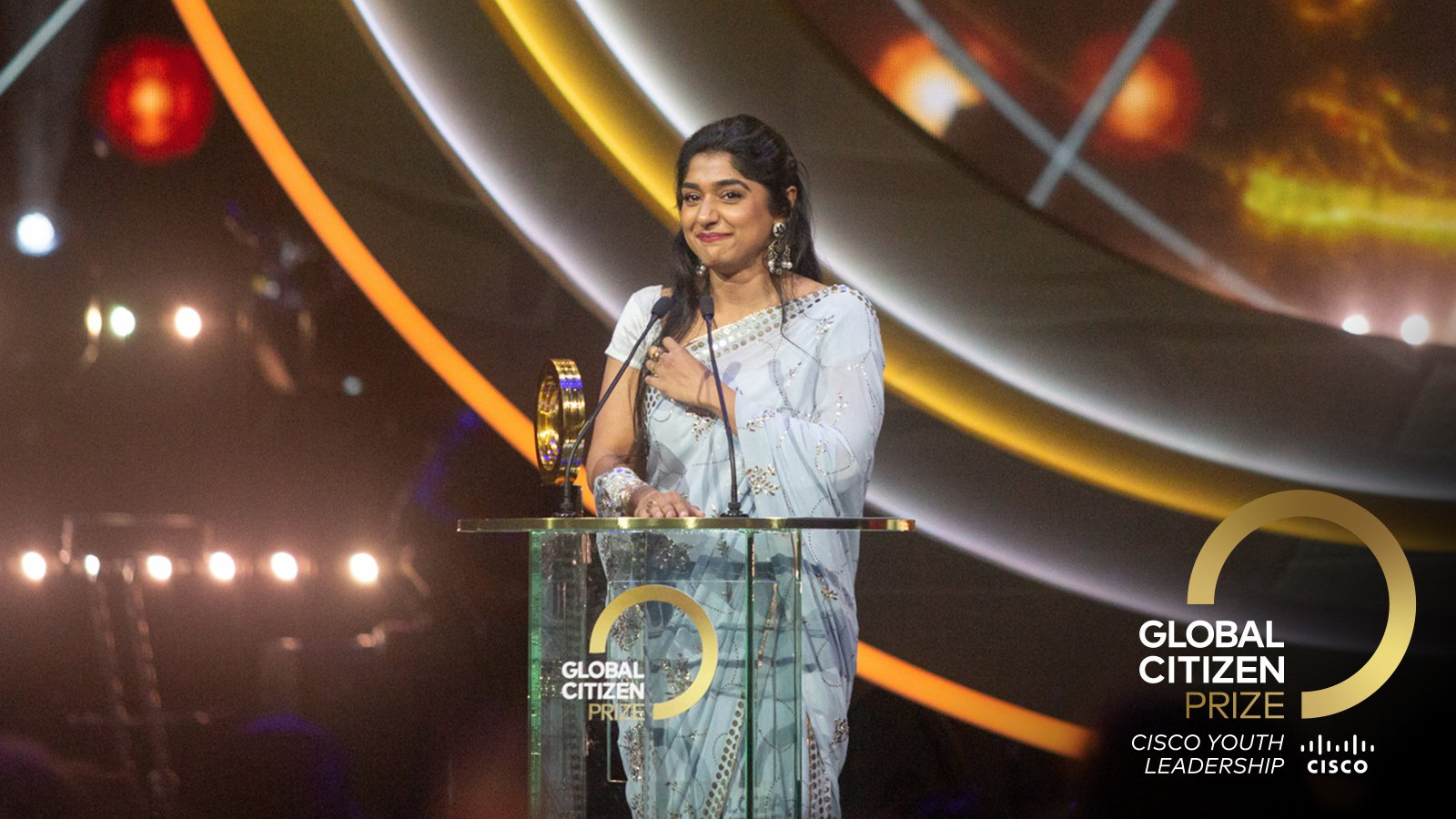 Global Citizen Cisco Youth Leadership Award Winner 2019 - Priya Prakash