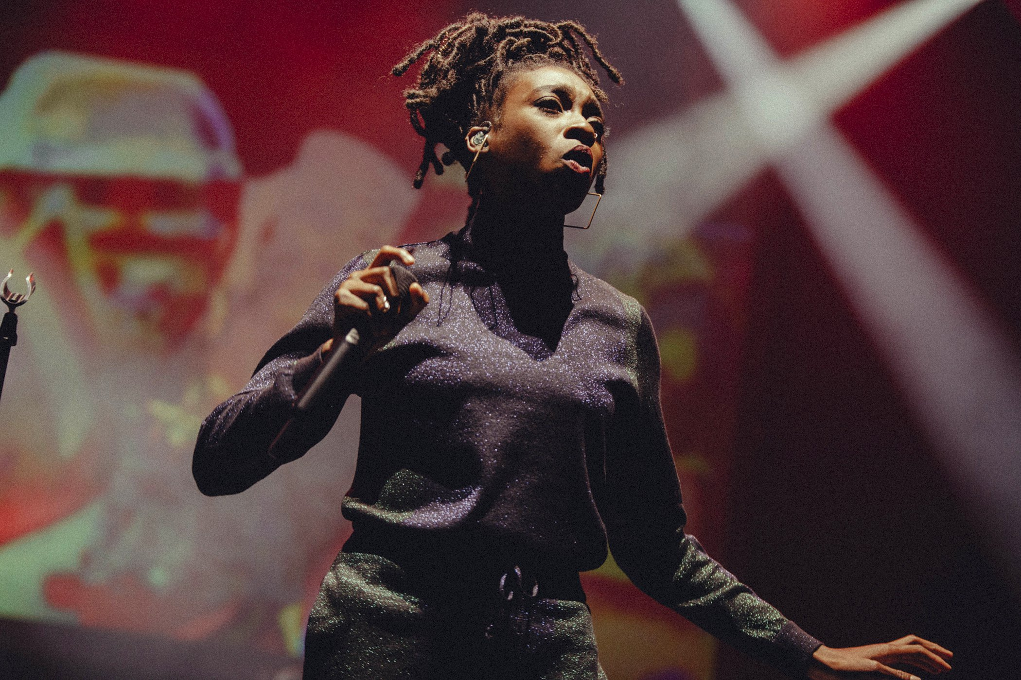 Little Simz performs on stage for Global Citizen Live London, at the O2 Academy Brixton on April 17, 2018 in London, England.