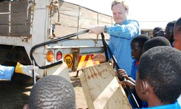 Article: Lawrence O'Donnell supplies desks, transforms learning in Malawi