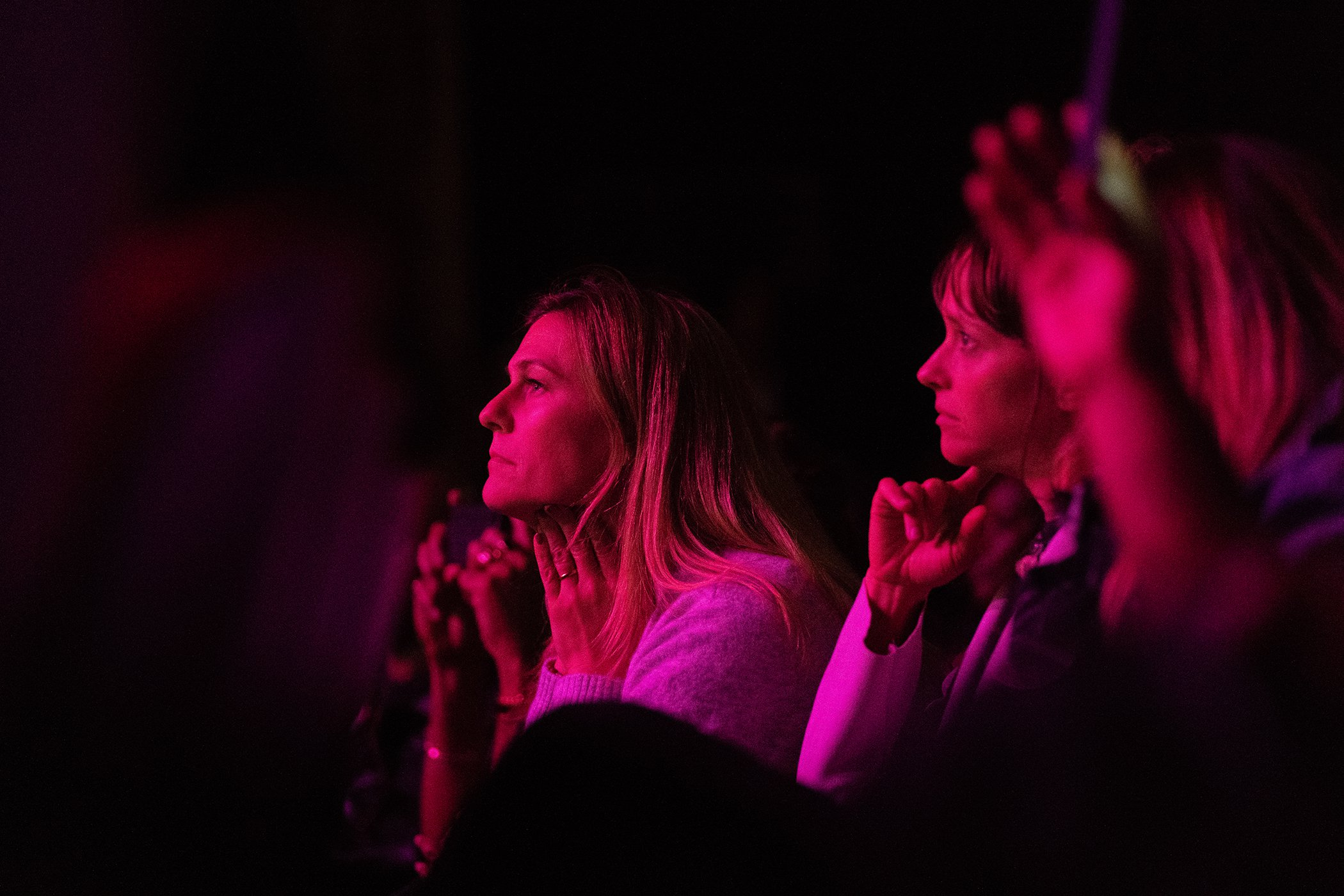 Attendees listen to the speakers onstage during Global Citizen Week: At What Cost? at The Apollo Theater on September 23, 2018 in New York City.