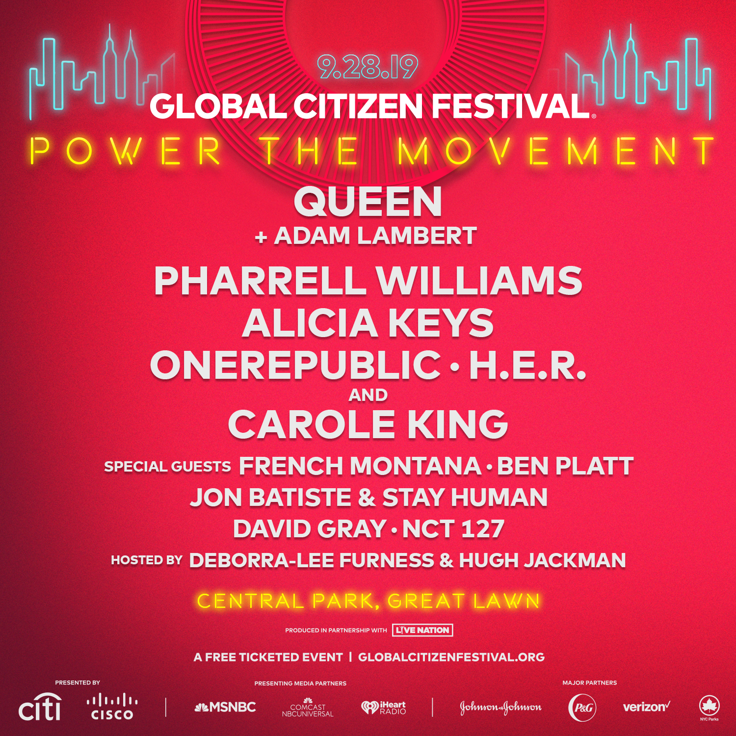 Global Citizen Festival 2020 Nyc.Here S Who Is Playing The 2019 Global Citizen Festival In