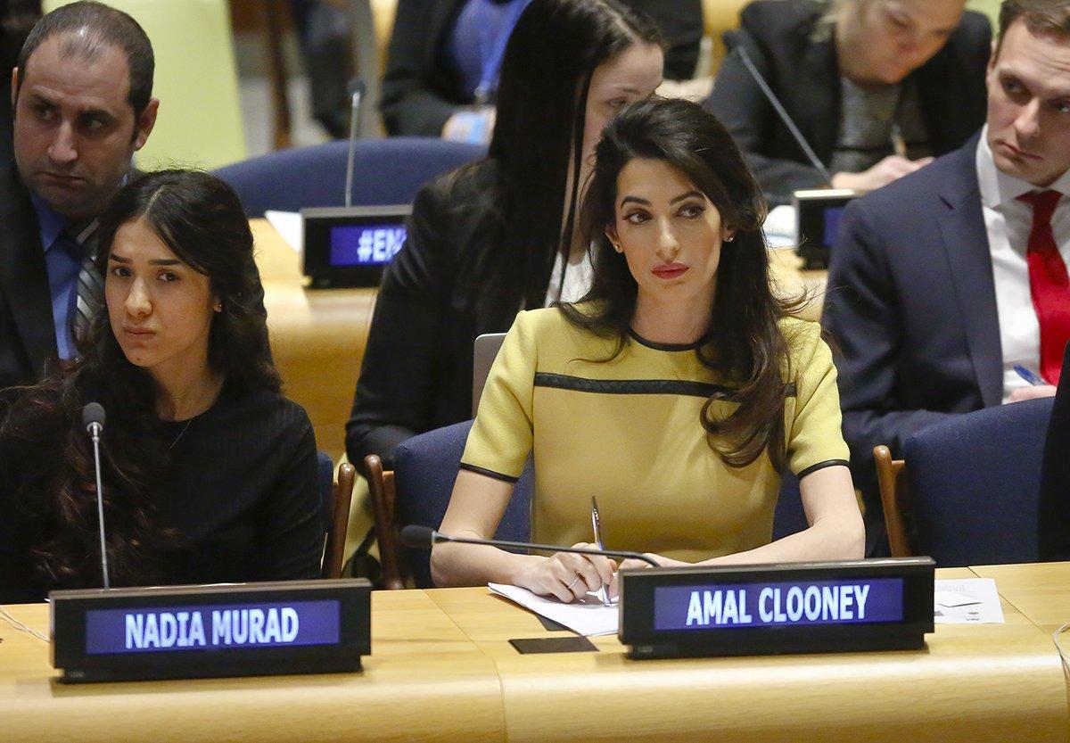 Amal Clooney and Nadia Murad