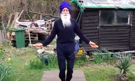 Article: Meet Britain's 'Skipping Sikh': a 73-Year-Old Bringing Joy to Older People Exercising at Home
