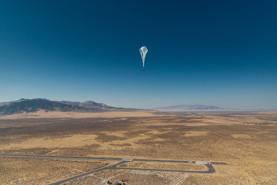 A balloon takes off from Project Loon's headquarters in Nevada. Photo: Alphabet/Project Loon