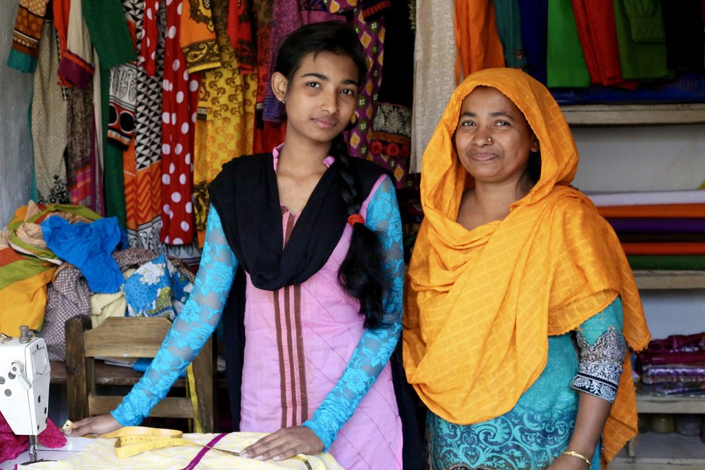 Meet Sharna, an 18-year-old from Bangladesh fashioning her own future